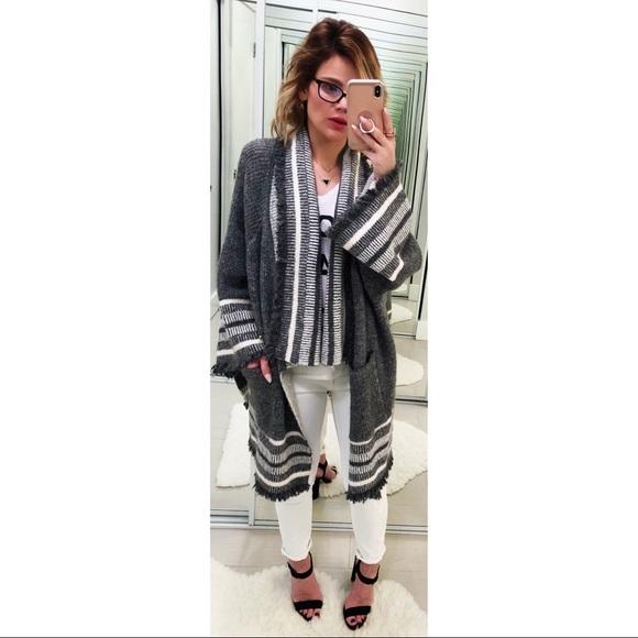 799c26e3 Zara Sweaters | Fringed Jacquard Jacket | Poshmark